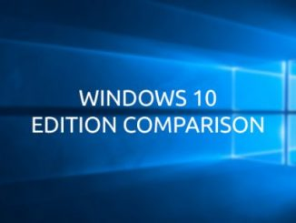 Windows 10 Edition Comparison