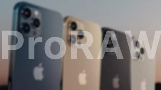 Apple's ProRAW