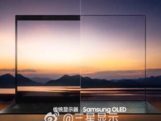 Samsung's laptop with a webcam under the screen