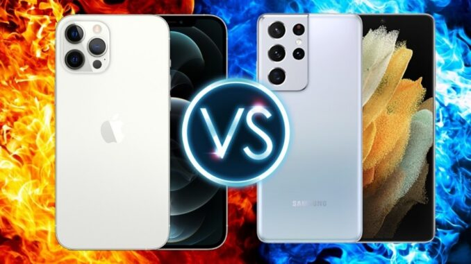 iPhone 12 Pro Max contre Samsung Galaxy S21 Ultra