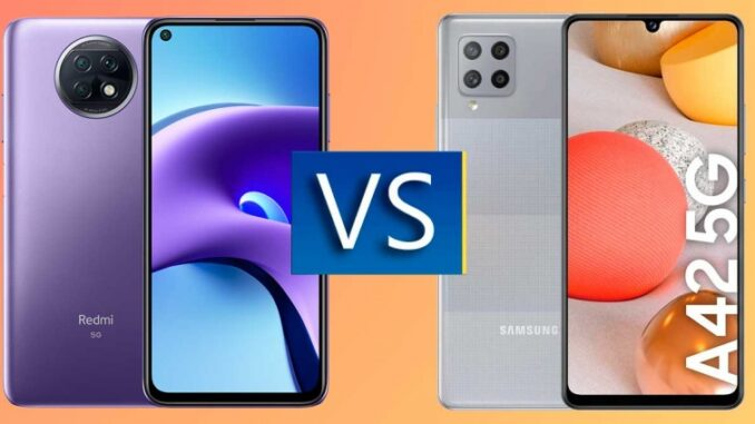 Redmi Note 9T vs Samsung Galaxy A42 5G