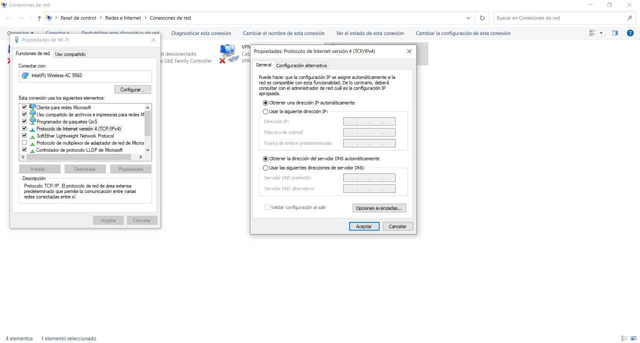 Cambiar los servidores DNS de Google en Windows