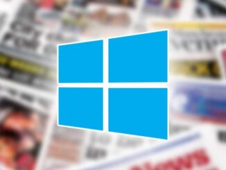 Windows 10 Launches News and Interests: Section with News and Weather