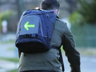Backpacks with LED Lights to Signal Bike
