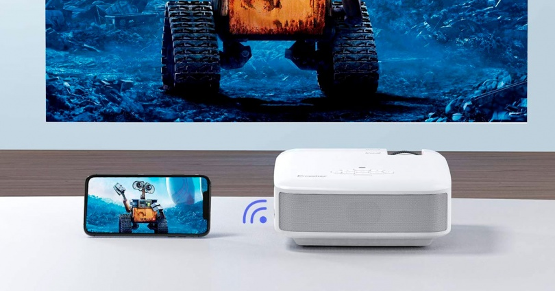 Connect the Mobile to a Projector by Cable or WiFi
