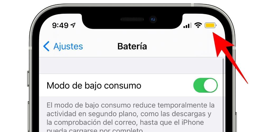 bajo consumo bateria iphone ios