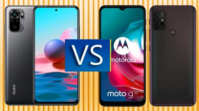 Redmi Note 10 vs Motorola Moto G30