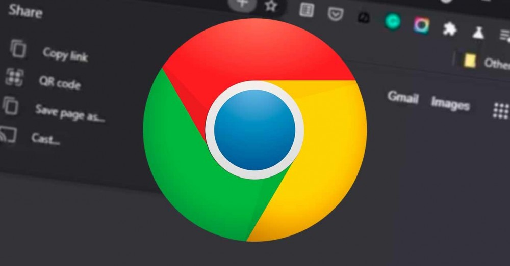 New Menu in Google Chrome to Share Content