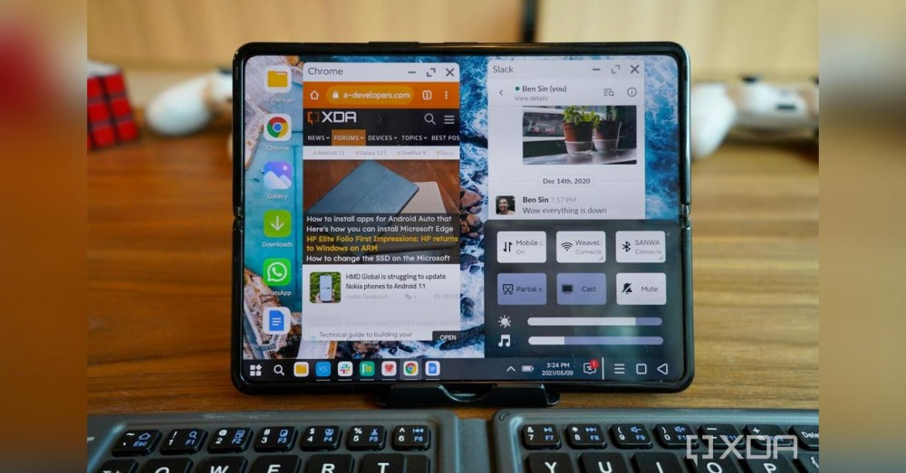 Xiaomi Shows Its PC Mode on the Mi MIX Fold