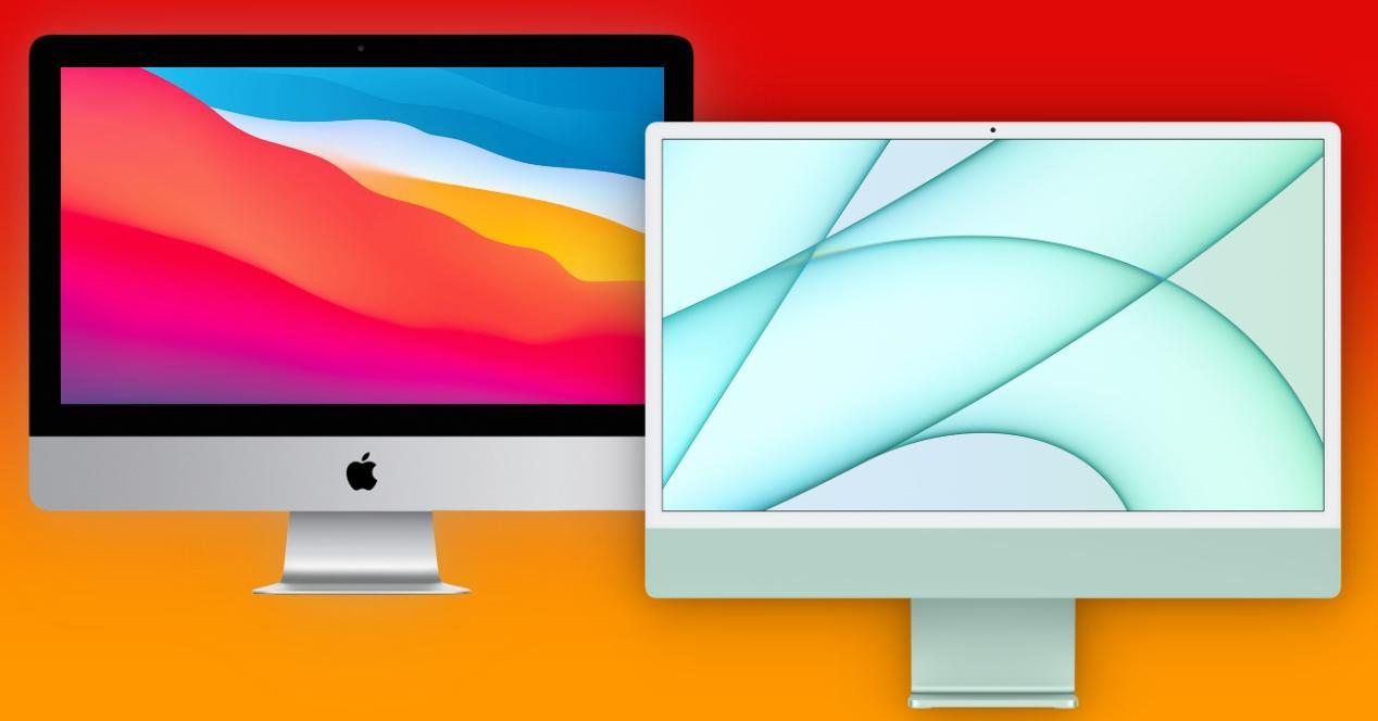 Comparaison iMac 21.5 pouces vs 24 pouces de 2021