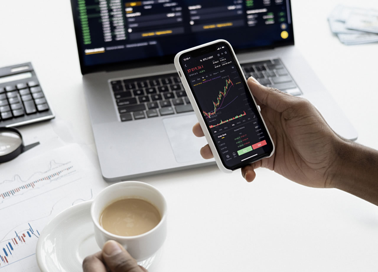 stock trading on phone