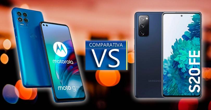 Motorola Moto G100 and the Samsung Galaxy S20 FE