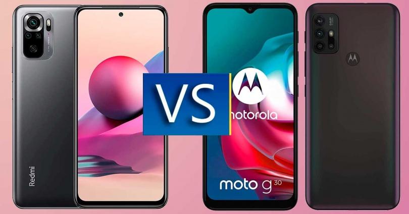 Redmi Note 10S vs Moto G30