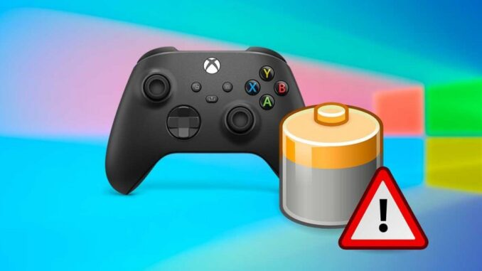 Battery Error When Using Xbox Controller in Windows over Bluetooth