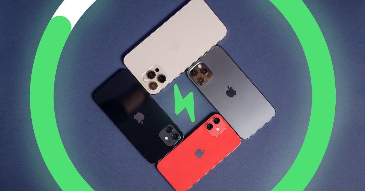 Comparaison de la batterie de l'iPhone 12, mini, Pro et Pro Max