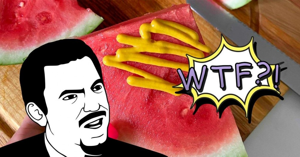 Watermelon with Mustard