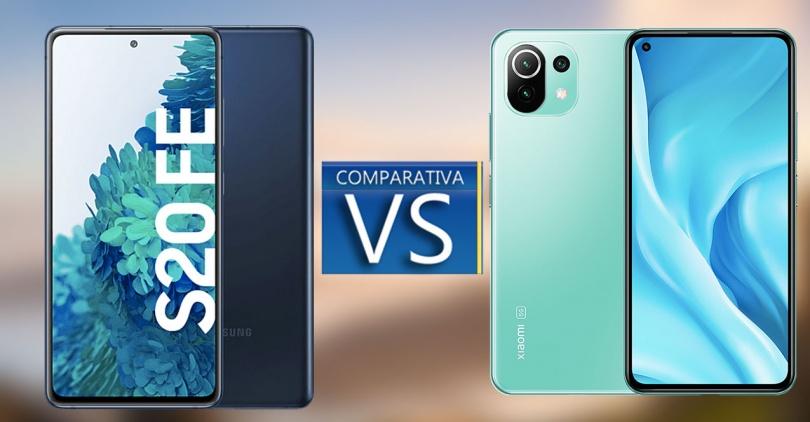 Samsung Galaxy S20 FE et le Xiaomi Mi 11