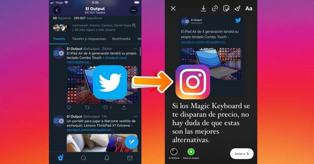 Postați Tweets pe Instagram Stories din iOS fără aplicații terțe