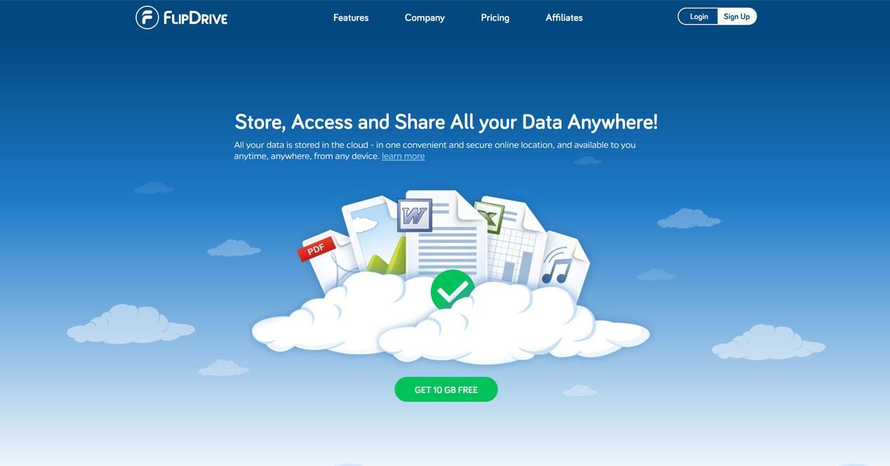 FlipDrive Partajați și salvați fișierele de oriunde