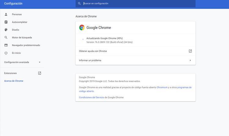 Päivitä Google Chrome
