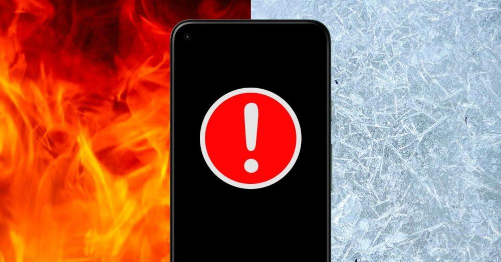 Undgå nedbrud på grund af høj eller lav temperatur i mobiltelefoner