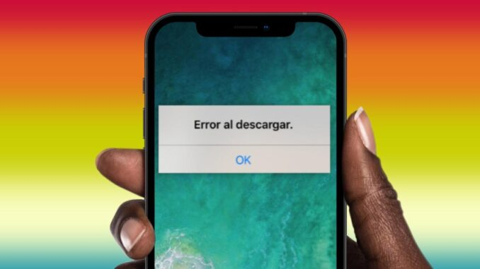 Error Downloading Applications on iPhone