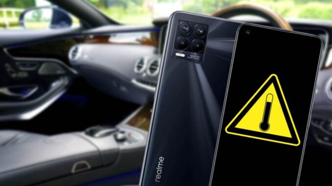 Problem of Leaving a Mobile phone in the Car in Summer