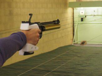 Céline Goberville, la tireuse olympique qui utilise un pistolet imprimé en 3D